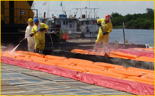 secondary containment berms for onsite decontamination emergency events in the united states